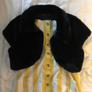 Black Fur Shrug/Dress Jacket